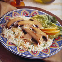Spicy Portabella Couscous: Main Image