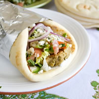 Falafel Wraps with Lemon Tahini Sauce: Main Image