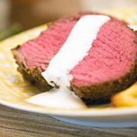 Herb Crusted Beef Tenderloin with Horseradish Cream Sauce: Main Image