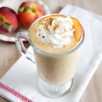 Vegan Peach Cobbler Shake: Main Image