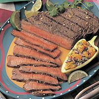 Margarita Beef with Orange Salsa: Main Image
