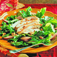 Chicken and Pear Salad on Arugula: Main Image