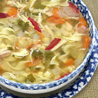 Warming Chicken and Asian Vegetable Soup: Main Image