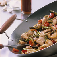 Chicken and Asparagus with Black Bean Sauce: Main Image