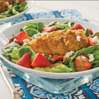 Chicken Cutlet Salad with Strawberry Balsamic Dressing: Main Image