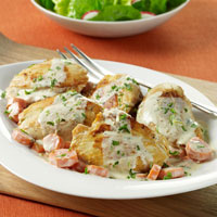 Spring Chicken Fricassee with Carrots and Tarragon: Main Image