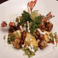 BBQ Bourbon Prawns with Tomatillo Salsa: Main Image