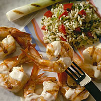 Grilled Shrimp with Fennel Sauce: Main Image