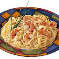 Shrimp Pasta with Cognac Sauce & Smoked Salmon: Main Image