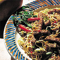 Indonesian Noodles with Pork Loin: Main Image