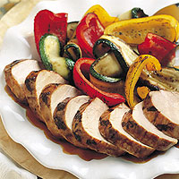 Thai Pork Tenderloin with Grilled Vegetables: Main Image