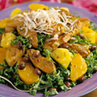 Brazilian Pork Salad with Tangerine Vinaigrette: Main Image