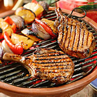 Caribbean Barbecued Pork Chops: Main Image