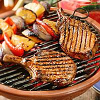 Caribbean Barbecued Pork Chops: Main Image