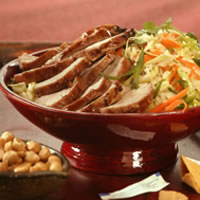 Char Shui Style BBQ Pork Tenderloin with Rice and Cabbage Salad: Main Image
