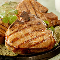 Chipotle-Lime Marinated Grilled Pork Chops: Main Image