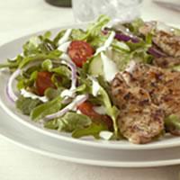 Greek Salad with Pork: Main Image