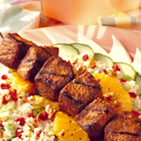Grilled Pork, Couscous, and Dried Cherry Salad with Citrus Vinaigrette: Main Image