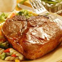 Honey-Glazed Pork Chops: Main Image