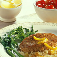 Moroccan-Seasoned Chops with Fruited Couscous: Main Image