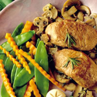 Pork Medallions with Rosemary and Mushrooms: Main Image