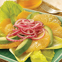 Avocado Citrus Salad with Marinated Onions: Main Image