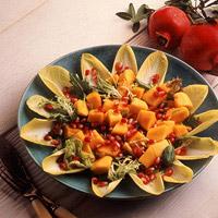 Pomegranate and Papaya Salad with Ginger Dressing: Main Image