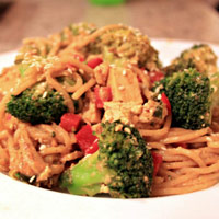 Thai-Inspired Noodles with Peanut Sauce: Main Image