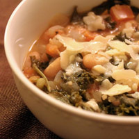 White Bean and Kale Soup with Goat Cheese Polenta: Main Image