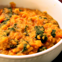Dal with Sweet Potatoes and Kale: Main Image