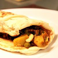 Spicy Samosa Wraps with Tamarind Chutney: Main Image