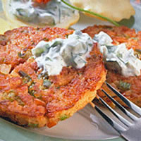 Chili Lime Crab Cakes with Chipotle Avocado Mayonnaise: Main Image