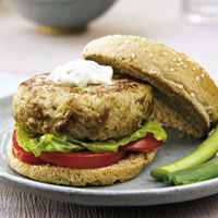 Texas Tuna Burger with Jalapeño Mayonnaise: Main Image