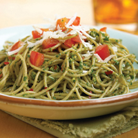 Pasta with Walnut-Basil Pesto: Main Image