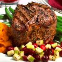 Rosemary Grilled Lamb Loin Chops with Cranberry and Peppered Apple Relish: Main Image