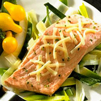 Salmon on a Bed of Leeks: Main Image