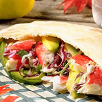 Seafood and Avocado Pocket Sandwich: Main Image