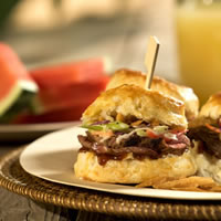 BBQ Beef Biscuit Sliders: Main Image