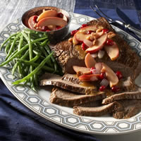 Beef Brisket with Savory Sauteed Apples: Main Image