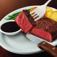 Beef Flat Iron Steak with Balsamic Pepper Sauce: Main Image