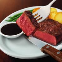 Beef Flat Iron Steak with Balsamic Pepper Sauce: Main Image