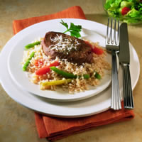 Beef Steak with Brown Rice & Vegetables: Main Image