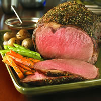 Classic Beef Ribeye Roast with Herb Shallot Sauce: Main Image