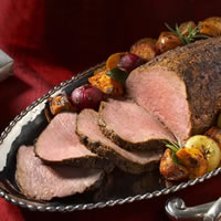 Smoky Paprika Rubbed Beef Tenderloin with Roasted Root Vegetables: Main Image