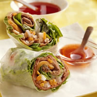 Vietnamese Beef & Vegetable Spring Rolls: Main Image