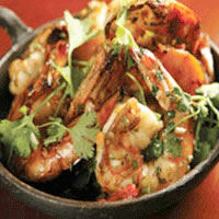 Tropical Shrimp Salad with Lime-Cilantro Dressing: Main Image