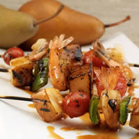 Asian Shrimp Skewers with Pears: Main Image