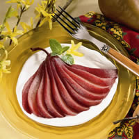 Poached Bosc Pears: Main Image