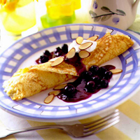 Blueberry Almond Crepes: Main Image