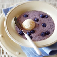 Frosted Blueberry and Banana Soup: Main Image